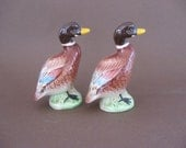 SALE Vintage Mallard Duck Salt and Pepper Shaker Set