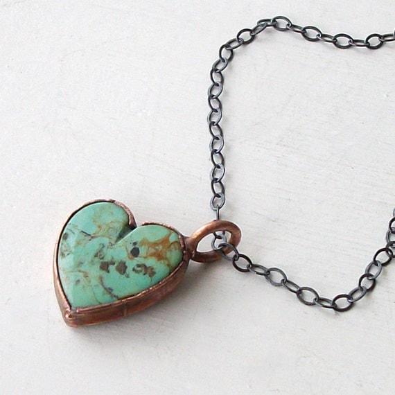 turquoise necklace heart december birthstone necklace gemstone. Black Bedroom Furniture Sets. Home Design Ideas