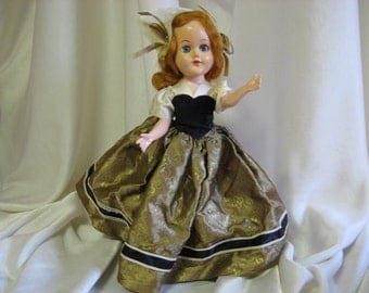"Vintage Doll 10"" Plastic Molded Arts Co. LLC New York"