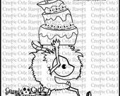 INSTANT DOWNLOAD Monster Cake Digital Stamp