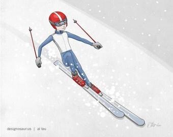 Slalom Ski print (8x10)