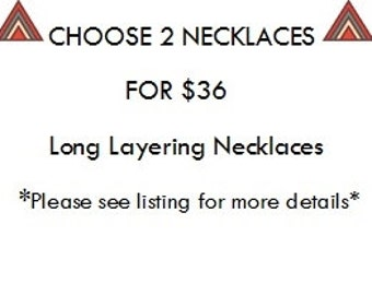 Boho Necklace, Long Layering Necklace, Unisex Layering Necklace Layered Neckace Set, Custom Necklaces, Necklace Gift Set, Long Chain Necklce