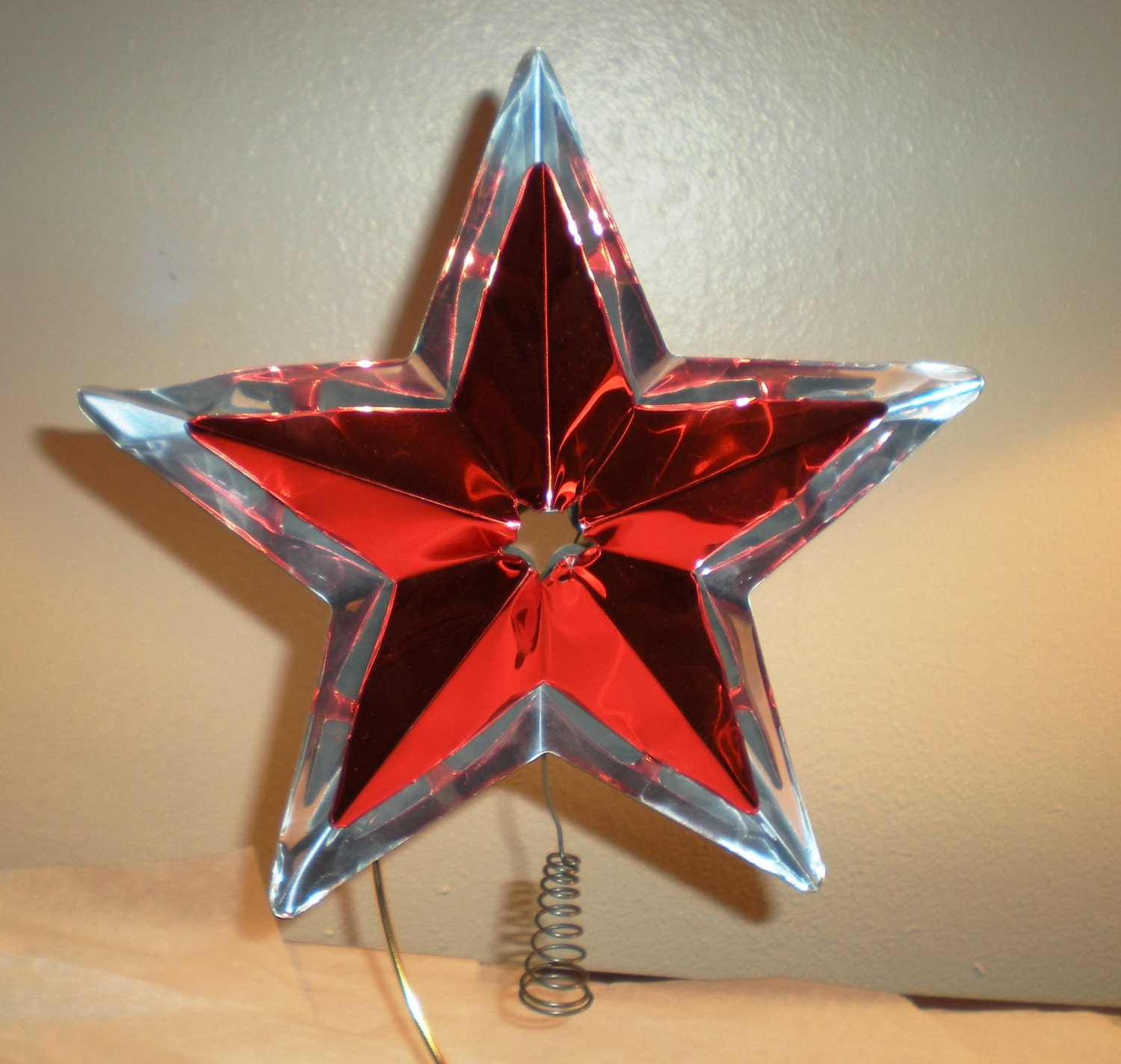 Vintage Aluminum Star Christmas Tree Topper