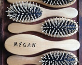 Personalized Natural Wood Hair Brush