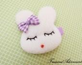 READY TO SHIP, Bunny Hair clips (L), Purple, Easter Bunny Rabbit Hair accessory, Children, Baby, Girl Hair pins, Purple Bow Hair clip Kawaii