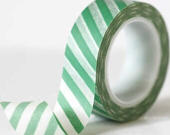 Christmas Holiday Green Stripe Washi Tape green masking tape