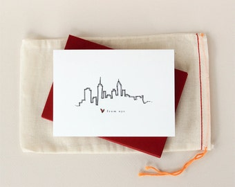 Love from New York City: Skyline Notecard Set