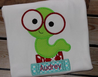 Personalized Bookworm with glasses Shirt