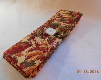 Pretty Floral  Crochet Hook DPN Case Yarn Organizer-9