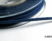 Wrapped cotton cord, cotton rope, blue, 1 meter