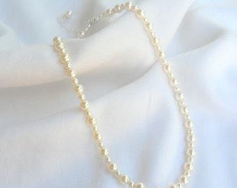 Child's Classic Swarovski Pearl Necklace in Sterling Silver