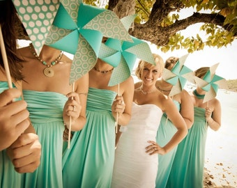 Pinwheel Wedding Party Set by Rule42 - custom designed for you