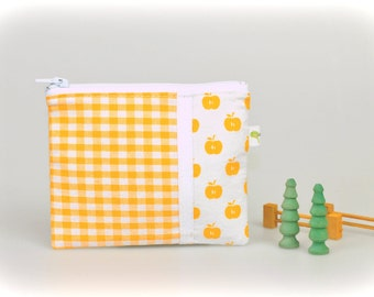 Sandwich/snack bags Set of 2 Yellow Apples