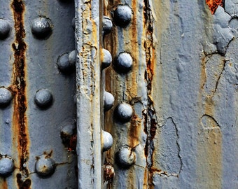 Industrial Abstract Rusted Surface Fine Art Photograph - Gallery Quality Signed Limited Edition with Selectable Size and Mounting Options