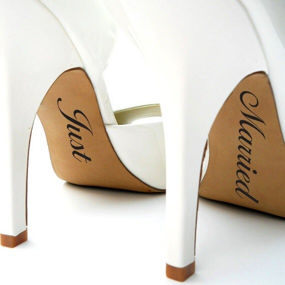 Wedding Shoe Stickers Mrs