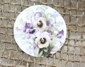 "Envelope Sealers 1"" -Pansies"