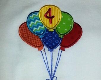 Balloons Birthday Shirt