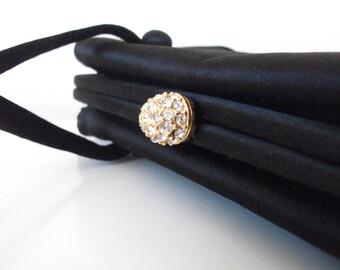 Sweet Black Satin 50s Evening Bag
