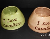 Personalized Long Eared Dog Bowl Made to Order
