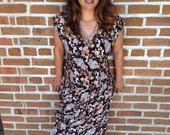 Women's floral button down dress