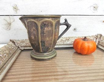 Creepy Silver Creamer Halloween Decor Autumn Parties Scary Serving Pitcher