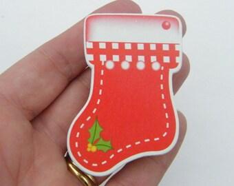 5 Christmas stocking peg 58 x 51mm