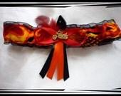 Handmade Black & Orange Harley Motrocyle Garter Toss~~SALE~~
