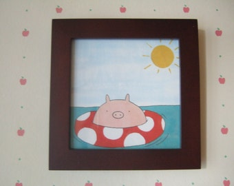 Sunshine Pig - 5x5 Print