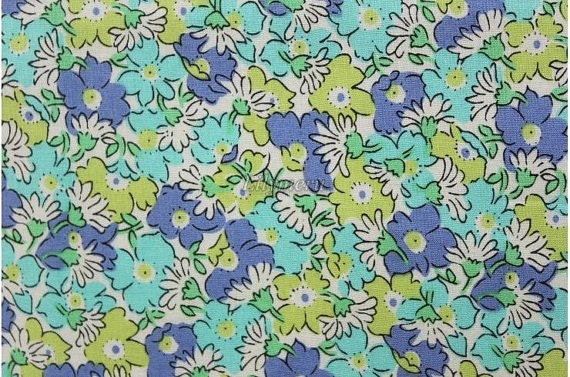 Liberty tana lawn printed in Japan - Bridget - Blue khaki mix