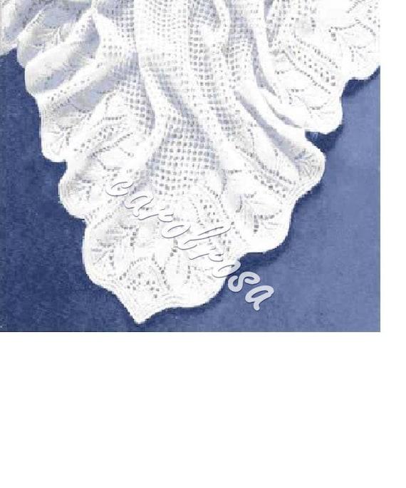 SALE Knitting Pattern Heirloom Shawl Baby shawl by carolrosa