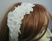 Ivory Beaded Wedding Headband