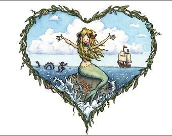 Sea of Love, 11 x 14 print.