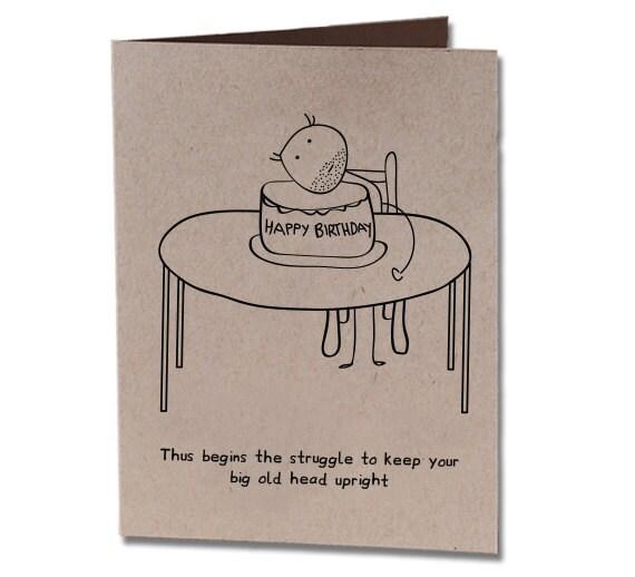 Birthday Humor Greeting Card Cake