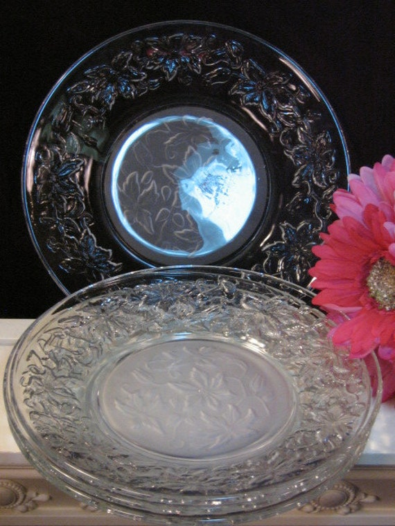 Vintage Princess House Crystal Fantasia Dinner Plate Set Of