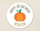 Pumpkin Party - Custom stickers - Sheet of 12 or 24