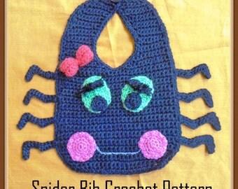 Spider Bib Crochet Patter - INSTANT DOWNLOAD