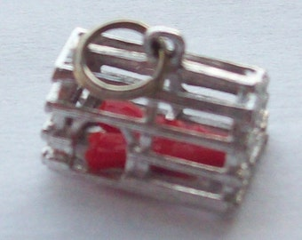 Lobster Trap Sterling Silver Charm