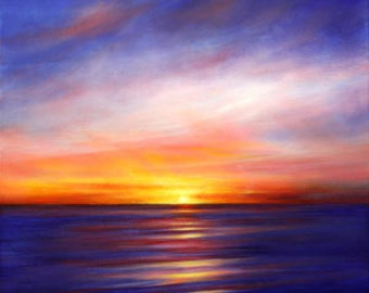 Evening Harmony original oil on canvas seascape painting