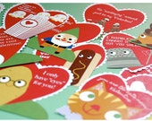 Printable cute Valentine Cards set of 12
