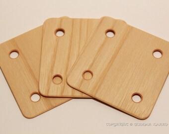 Tablet weaving cards 24 Ash 6*6cm. Card weaving cards. Ancient medieval viking art weaving loom craft work SCA