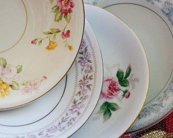 Set of 10 Vintage China Dessert/Fruit Bowls for Tea Parties, Bridal Luncheons, Showers, Mismatched Tea Set, China Tea Set