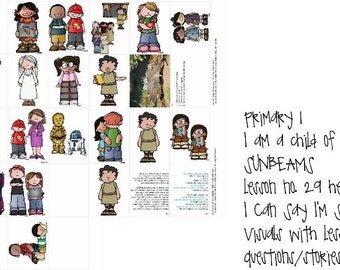 lds primary sunbeams manual 1 lesson 29 I can say I'm sorry visual helps