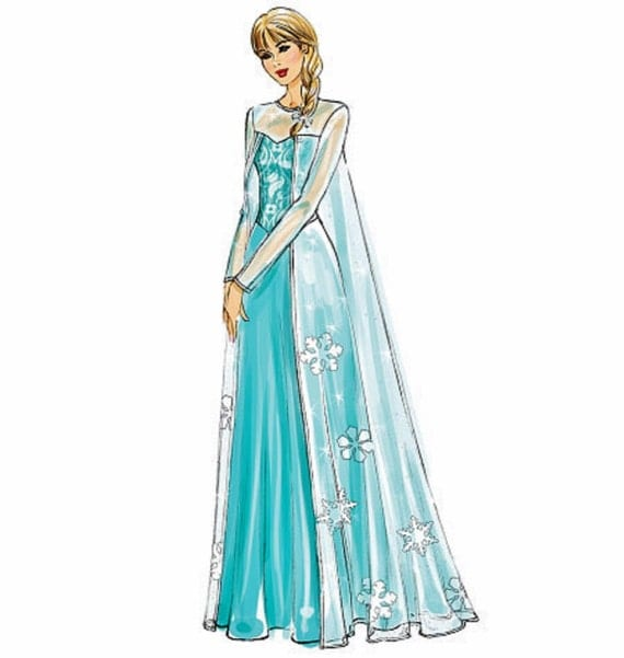 Items Similar To Adult Elsa Costume Pattern Anna Costume  sc 1 st  Meningrey & Anna Frozen Costume Pattern - Meningrey