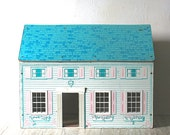 Reserved For geluk  Vintage Mid Century Dollhouse Pressed Board AS IS Repurpose