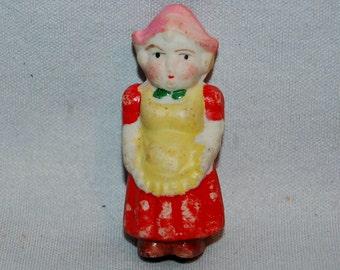 Vintage / Bisque / Doll /  Dutch / Girl / frozen charlotte / penny doll / Vintage Dolls