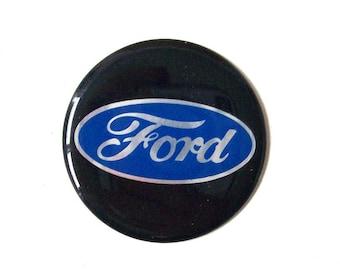 vintage ford car emblem sticker auto automotive vehicle mens retro mid century modern decorative accessories accessory black blue