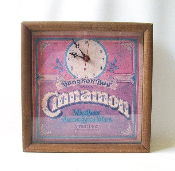 Vintage Kitchen Clock Bangkok Bay Cinnamon By