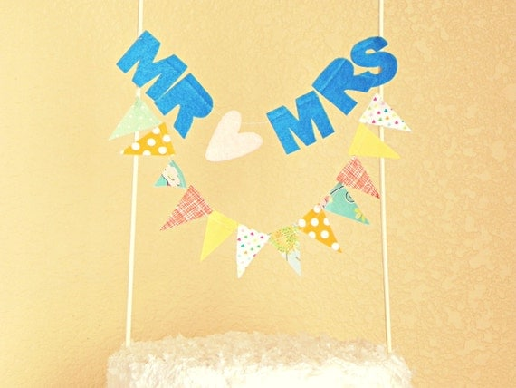 Mr and Mrs Cake Banner