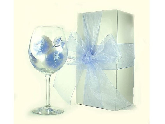 Glass Wedding Gift Box : ... Matching Ribbon, 5 BoxesWedding Party Gift Box Wine Glass Gift Box