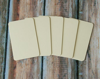 50pc IVORY WOVE Prestige Series Business Card Blanks